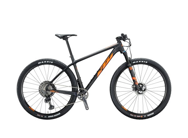 Horské kolo KTM MYROON PRIME 29 2020 carbon satin (space orange glossy)