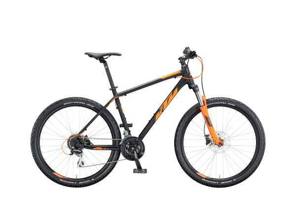 Horské kolo KTM CHICAGO 27.5 2020 black matt (orange)