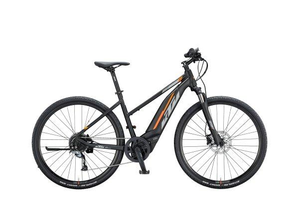 Dámské elektrokolo KTM MACINA CROSS 520 500Wh 2020 black matt (grey +orange