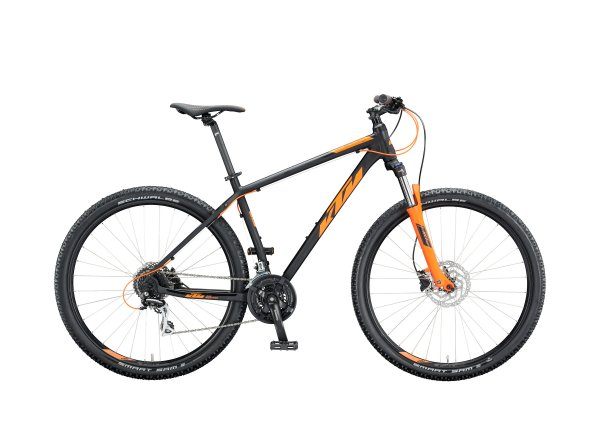 Horské kolo KTM CHICAGO 29 2020 black matt (orange)
