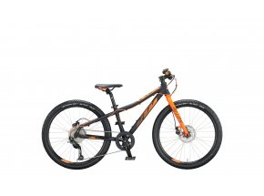 Dětské kolo KTM Wild SPEED 24.9 DISC 2020 black matt (orange)
