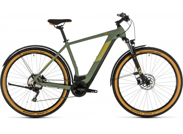 Elektrokolo CUBE CROSS HYBRID PRO 500 ALLROAD 2020 green´n´orange