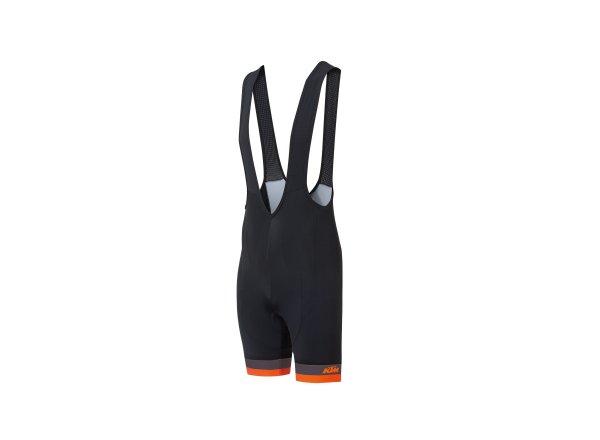 Cyklistické kraťasy KTM Factory Line Black/orange/grey