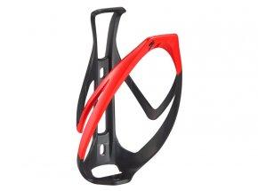 Košík na láhev SPECIALIZED RIB CAGE II Matte Black/Flo Red