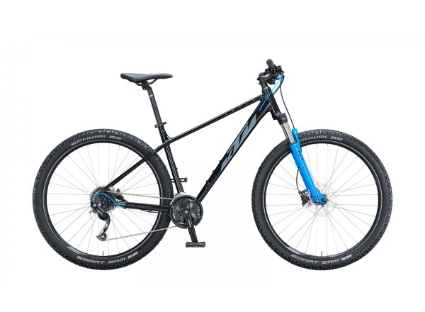 "Horské kolo KTM CHICAGO DISC 291 29"" 2021 Mat black (grey+blue)"