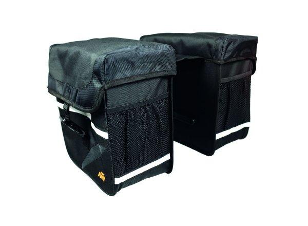 Dvojbrašna na nosič KTM LINE Carrier Bag Double Vario 2021 Black/grey