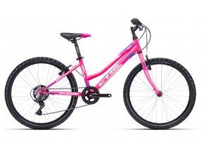 Dětské kolo CTM MONY 24 2021 Mat pink/violet