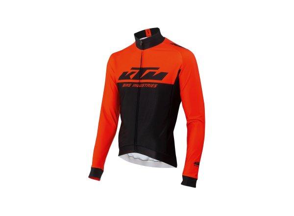 Cyklistický dres KTM Factory Team Winter 2021 Black/orange