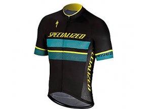 Cyklistický dres SPECIALIZED RBX COMP Logo Jersey BLK/DKTEAL/YEL
