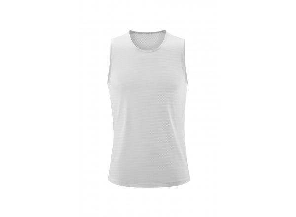 Funkční triko bez rukávů CUBE Baselayer Shirt Mesh White