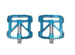 Pedály CUBE RFR Pedale Flat SLT (pár) Blue