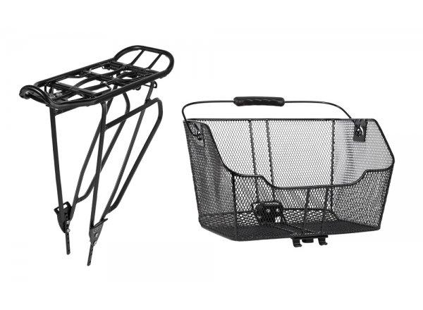 Nosič a koš CUBE RFR Rear Carrier & Basket Set Klick&Go Black