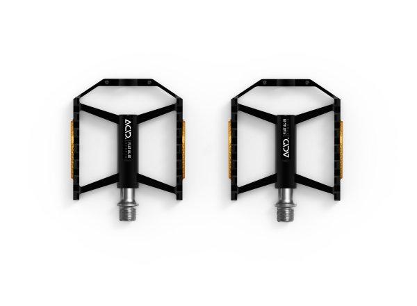 Pedály CUBE ACID Pedals FLAT A4-IB Hybrid (pár) Black