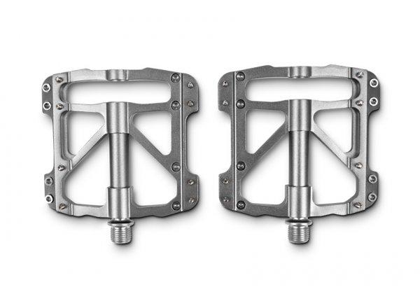 Pedály CUBE RFR Pedale Flat SLT (pár) Silver