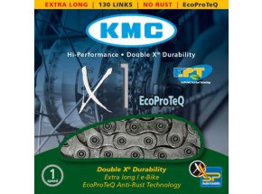 Řetěz pro elektrokola KMC X1 EcoProTeQ 1s Silver