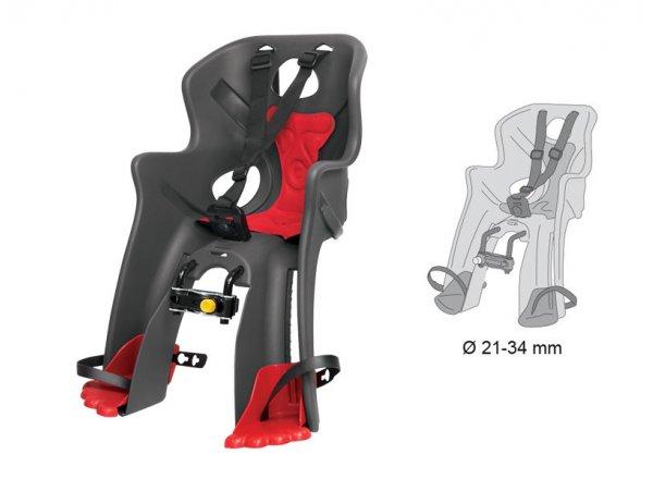 Dětská sedačka Bellelli RABBIT HANDLEFIX přední Grey/red