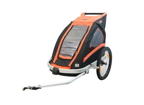 Dětský vozík za kolo KTM Trailer Carry More (Jogger Kit + 360°kolečko) 2019 Orange/black