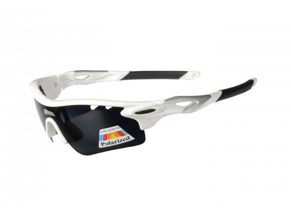 Cyklistické polarizační brýle Onix Sabot White/silver