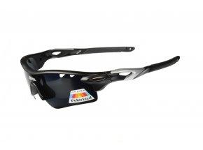 Cyklistické polarizační brýle Onix Sabot Black/silver
