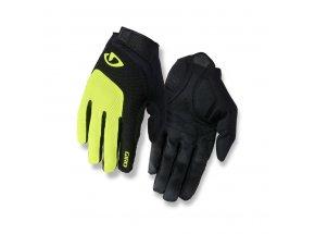 Cyklistické rukavice GIRO BRAVO LF highlight yellow